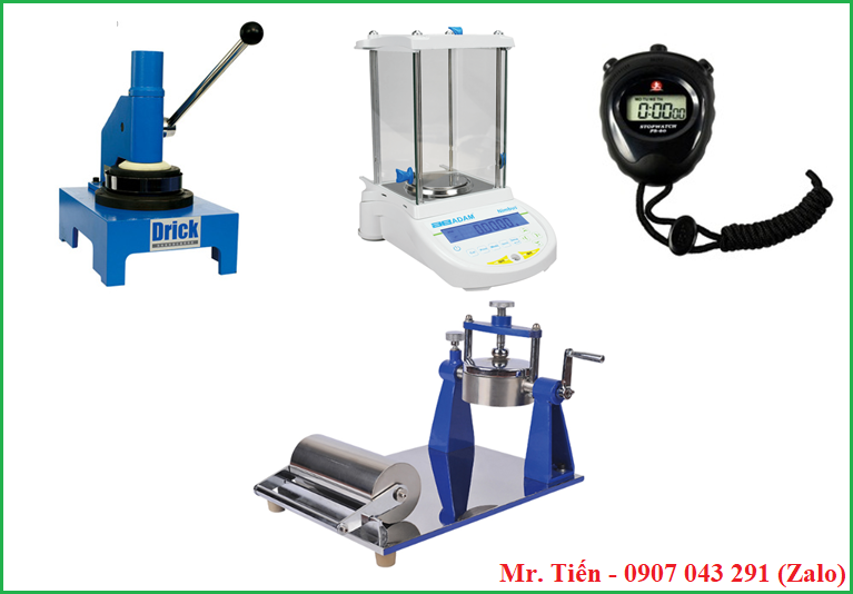Bộ dụng cụ và thiết bị xác định độ hút nước của giấy và bìa Carton theo phương pháp Cobb