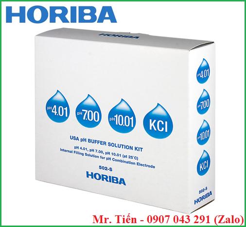 Bộ dung dịch chuẩn pH theo chuẩn USA (USA pH Buffer Solution Kit 502-S) hãng Horiba