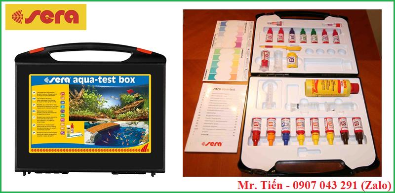 Bộ kiểm tra chất lượng nước ao nuôi thủy sản hãng Sera (Sera aqua test box)