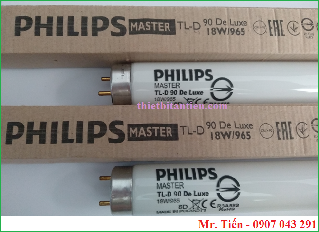 Bóng đèn Philips Master TL-D 90 De Luxe 18W/965 Made in Poland