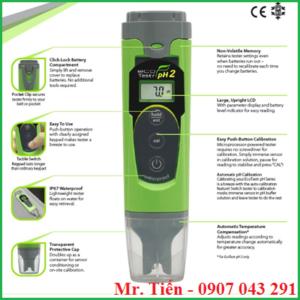 Bút đo pH nước nuôi cá EcoTestr pH 2 hãng Eutech