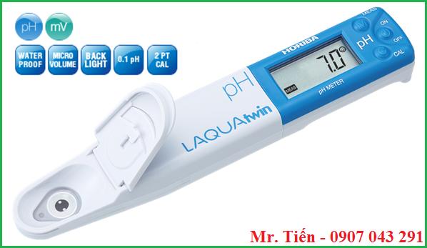 Bút đo pH nước nuôi tôm cá pH 11 Horiba Nhật Bản