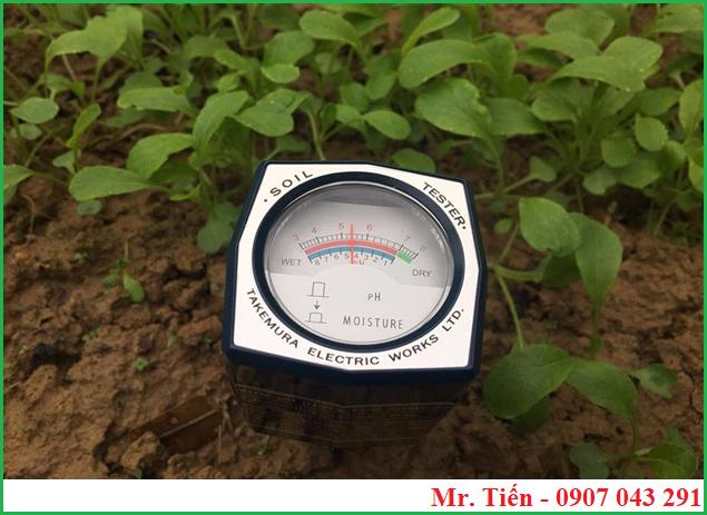 Bút đo pH và độ ẩm của đất trồng rau, cây cảnh, hoa màu DM-15 hãng Takemura
