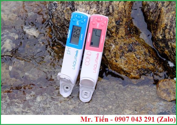 Đo pH và độ dẫn điện của nước bằng bút LAQUAtwin hãng Horiba Nhật Bản