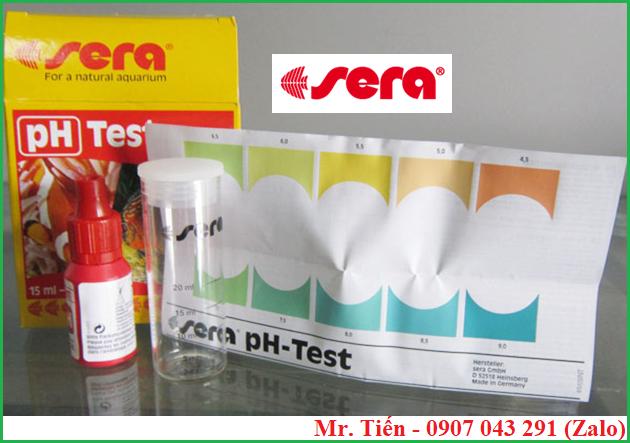 Dụng cụ đo độ pH nước hãng Sera và bảng màu đi kèm