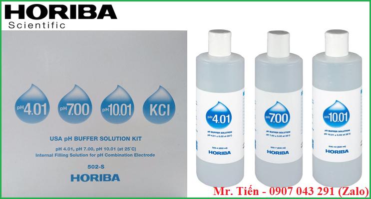 Dung dịch chuẩn pH 4.01/7.00/10.01 hãng Horiba (Nhật Bản)