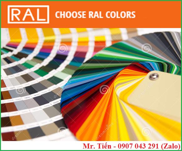 Hệ thống màu chuẩn hãng RAL