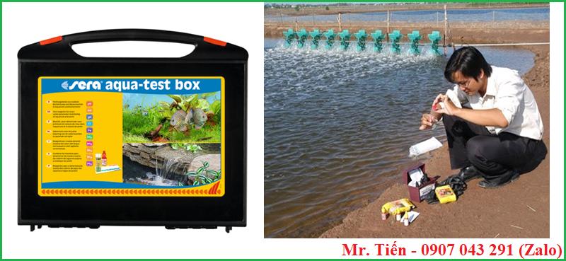 Kiểm tra chất lượng nước ao nuôi tôm cá bằng hộp đo 9 chỉ tiêu Sera aqua test-box