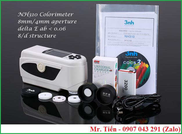 Máy đo màu cầm tay Colorimeter NH310 hãng 3nh