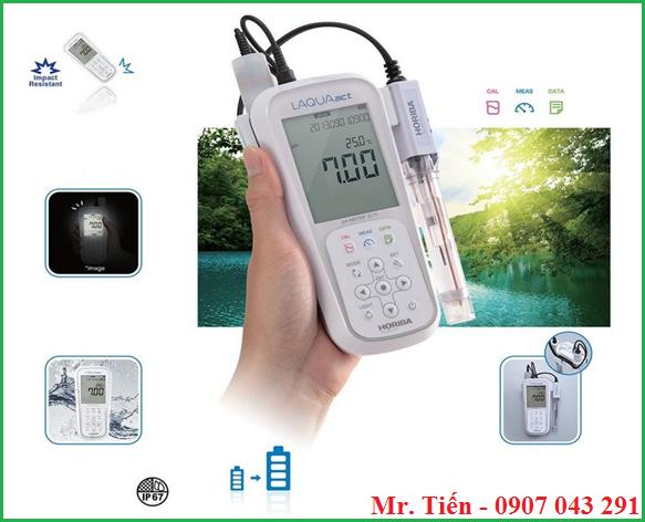 Máy đo pH nước thải LAQUAact pH110 Horiba Scientific Nhật Bản siêu bền