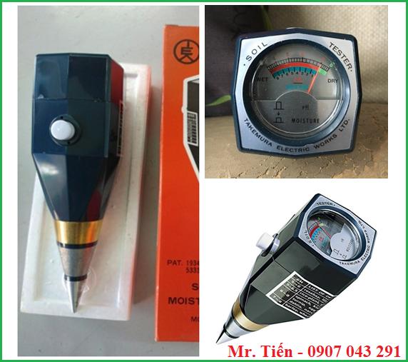 Máy đo pH và độ ẩm đất trồng cây DM15 hãng Takemura Nhật Bản