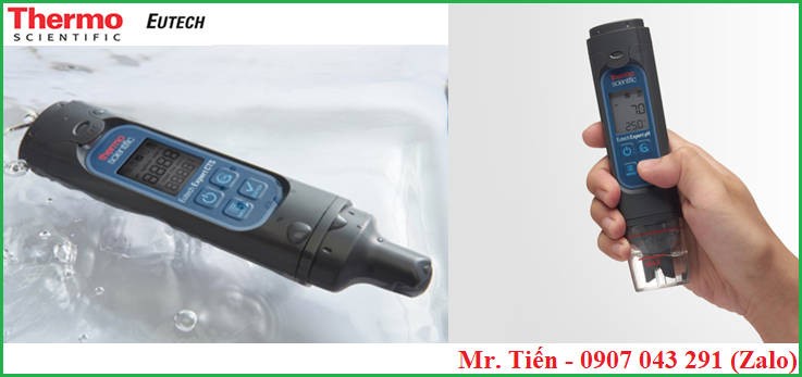 Máy Expert pH Eutech có thiết kế nhỏ gọn dạng bút đo cầm tay, chống nước & bụi đạt chuẩn IP67
