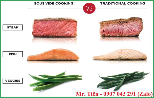 Sự khác biệt giữa Sous Vide Cooking và nấu ăn truyền thống