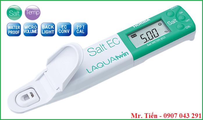 Thông số kỹ thuật của bút đo độ mặn của nước LAQUAtwin Salt EC Horiba
