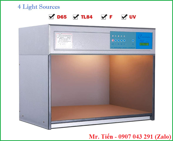 Tủ so màu 4 nguồn sáng D65 / TL84 / UV / F hãng Tilo